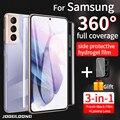 Гидрогелевая пленка с полным покрытием 360 градусов для Samsung Galaxy S21 S20 FE Plus Note20 10, Защитное стекло для задней панели камеры