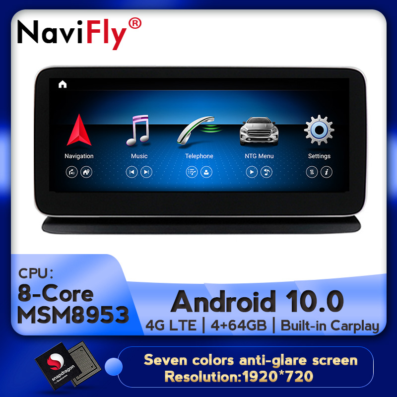 NaviFly <font><b>10.25</b></font> <font><b>inch</b></font> IPS <font><b>Android</b></font> 10.0 8Core Car DVD Multimedia Player For Mercedes <font><b>Benz</b></font> CLS Class W218 2011-2013 With GPS BT WIFI image