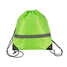 Рюкзак на шнурке легкий светоотражающий портативный ранец с