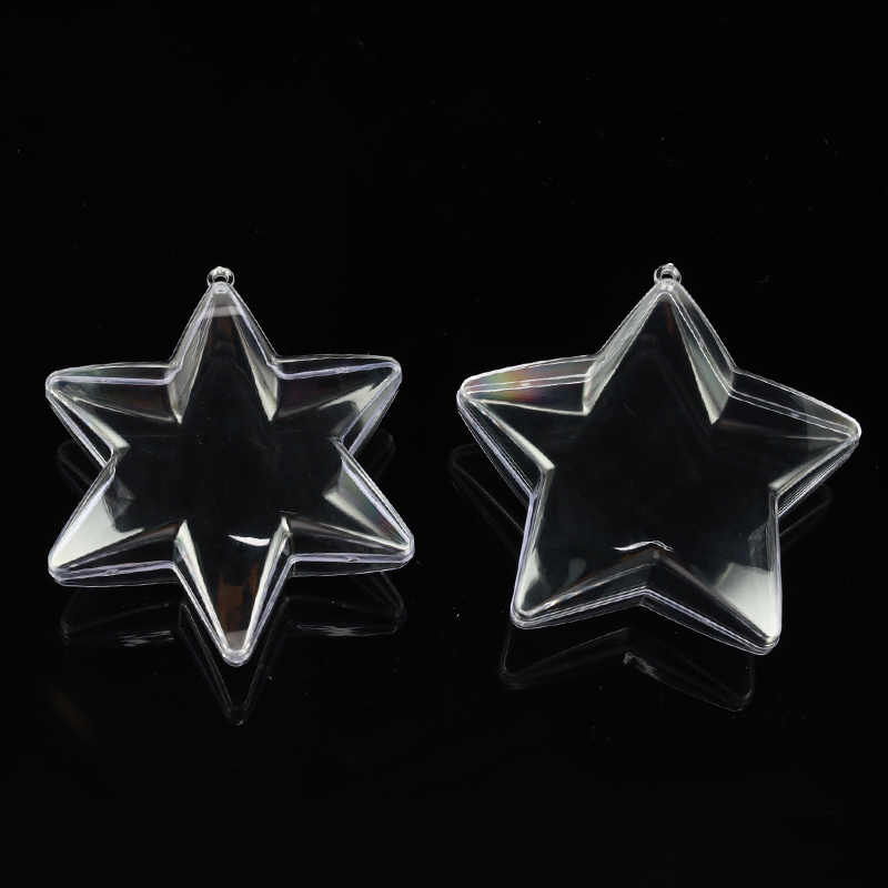 10cm Pentagram Hexagonal Star Clear Plastic 3D Bath Bomb Mold Christmas Xmas Bath Bomb Mould DIY Decorations Bath Accessories