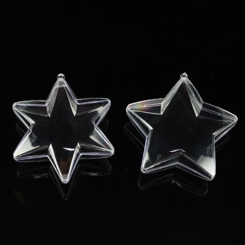 10cm Pentagram Hexagonal Star Clear Plastic 3D Bath Bomb Mold Christmas Xmas Bath Bomb Mould DIY Decorations Bath Accessories