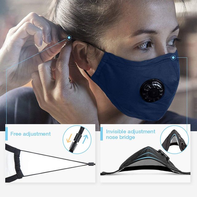 Reuseable Anti  PM2.5  Mouth Mask Anti Dust Mask Activated Carbon Filter Windproof Mouth-Muffle Bacteria Proof Flu Face Masks 4