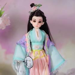 Винтажные куклы Феи для девочек, красивая Китайская древняя кукла BJD с подставкой, серия китайских мифов, кукла Mu Xi, игрушки для девочек, пода...