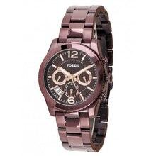 Fossil Women's Perfect Boyfriend Sport Multifunction Wine Stainless Steel Watch