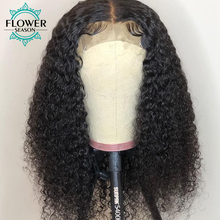 5*4.5 Silk Base Human Hair Wig Indian Remy hair Curly Full Lace Wigs With Baby Hair For Women Natural Color FlowerSeason