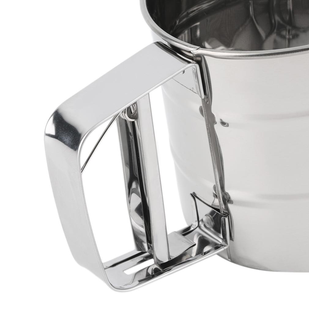 1 шт. Нержавеющая сталь сетка Мука сито Механическая глазурь для выпечки шейкер для Сахара Сито Прямая поставка