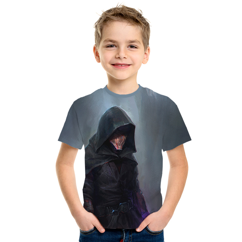 Short-Sleeve Knight Star-Wars T-Shirt Kids Fashion Children's Men/girls Cool Print Tops