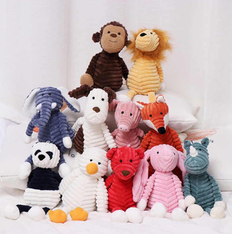 1 pièces mignon Torest Animal en peluche jouet rayure bébé éléphant Lion renard lapin cochon doux jouets en peluche