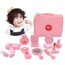 Детский деревянный косметический салон игрушки для моделирования
