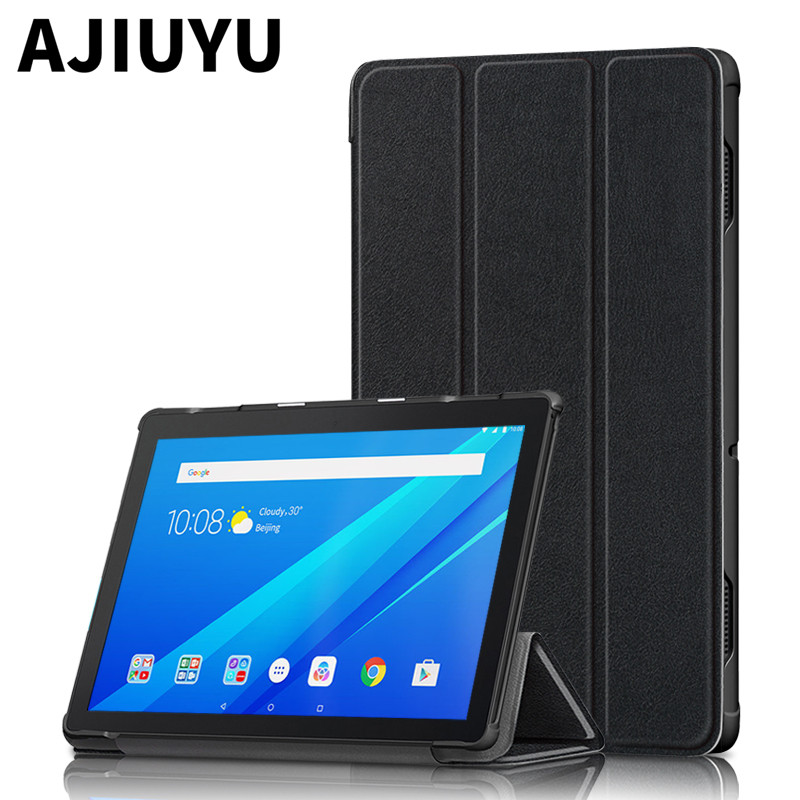 Caso Para Lenovo Tab E10 TB Couro Smart Cover TB-X104F TB-104L X104F 104L Tablet Shell Caso Magnetic Magro Folding 10.1