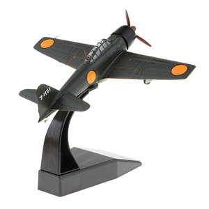 Japanese Mitsubishi A6M3 Zero - 1940 1:72 Metal Die-cast Airplane, Includes Alloy Stand