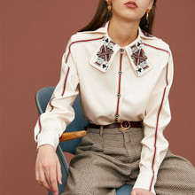 Women Blouse Shirt Female New Spring Special King Card Print