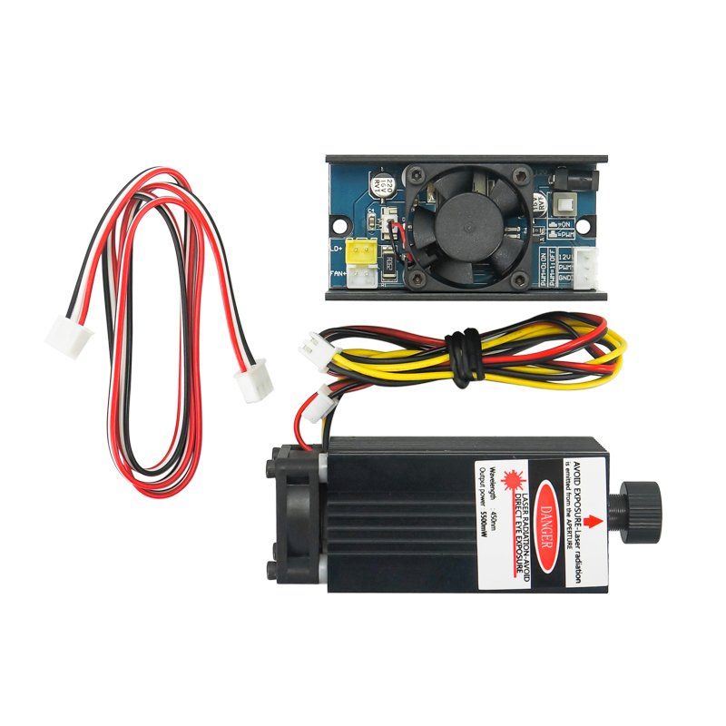 5500mw Module Laser 450NM focalisation tête Laser bleue Machine de gravure Laser 5.5W Tube Laser L00003
