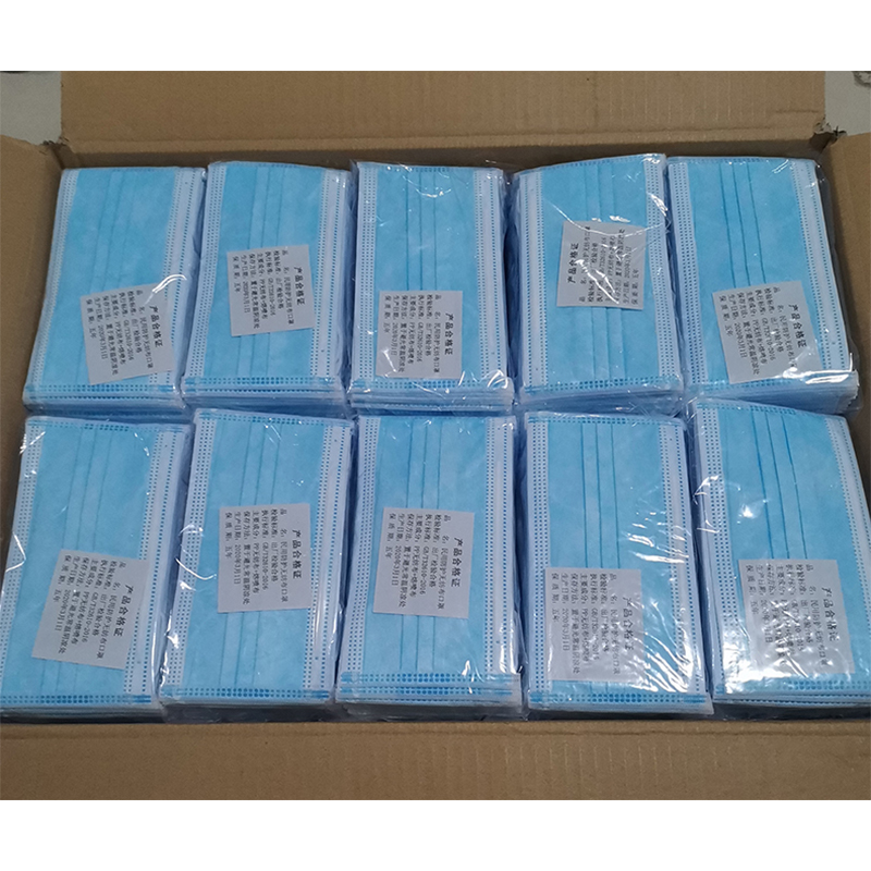 Stocked Earloop Face Masks 50pcs/100pcs Fast Delivery Anti-virus Protection Men Women Adults 3ply Disposable Mask