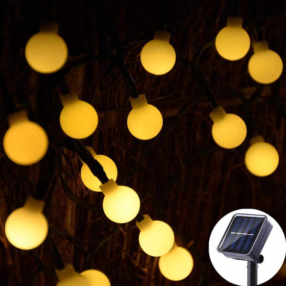 20//50//80LED Solar Globe String Lights Battery Powered Fairy String Lights 8 Mode