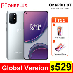 Oneplus 8T 8 T Global Version KB2001 5G SmartPhone 120Hz Fluid AMOLED Display Snapdragon 865 65W Warp Charge Mobile Phone