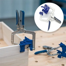 Wood Board 90 Degree Right Angle Corner Clamp Woodworking Clamping cabinet right angle clip fixed puncher Hand Tool