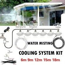 Kit exterior do sistema de refrigeração da nebulização para a irrigação waterring do pátio do jardim da estufa o senhor linha 6m-calibre do sistema de 18m é 0.4mm