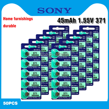 50pcs Sony 100% Original 370 AG6 371 SR920SW 920 1.55V Watch Battery SR920SW 371 Button Coin Cell Batteries MADE IN JAPAN