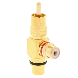 Image 5 - 1pc Gold Plated RCA Male to 2 Female RCA Splitter Adapter AV Video Audio T Plug RCA 3 way Plug R Connector