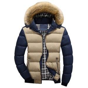 Image 3 - FALIZAฤดูหนาวใหม่แจ็คเก็ตผู้ชายหนาเสื้อคลุมParkaผู้ชายOutwear Coat Casual PatchworkเบาะMens PLUS 7XL MY20