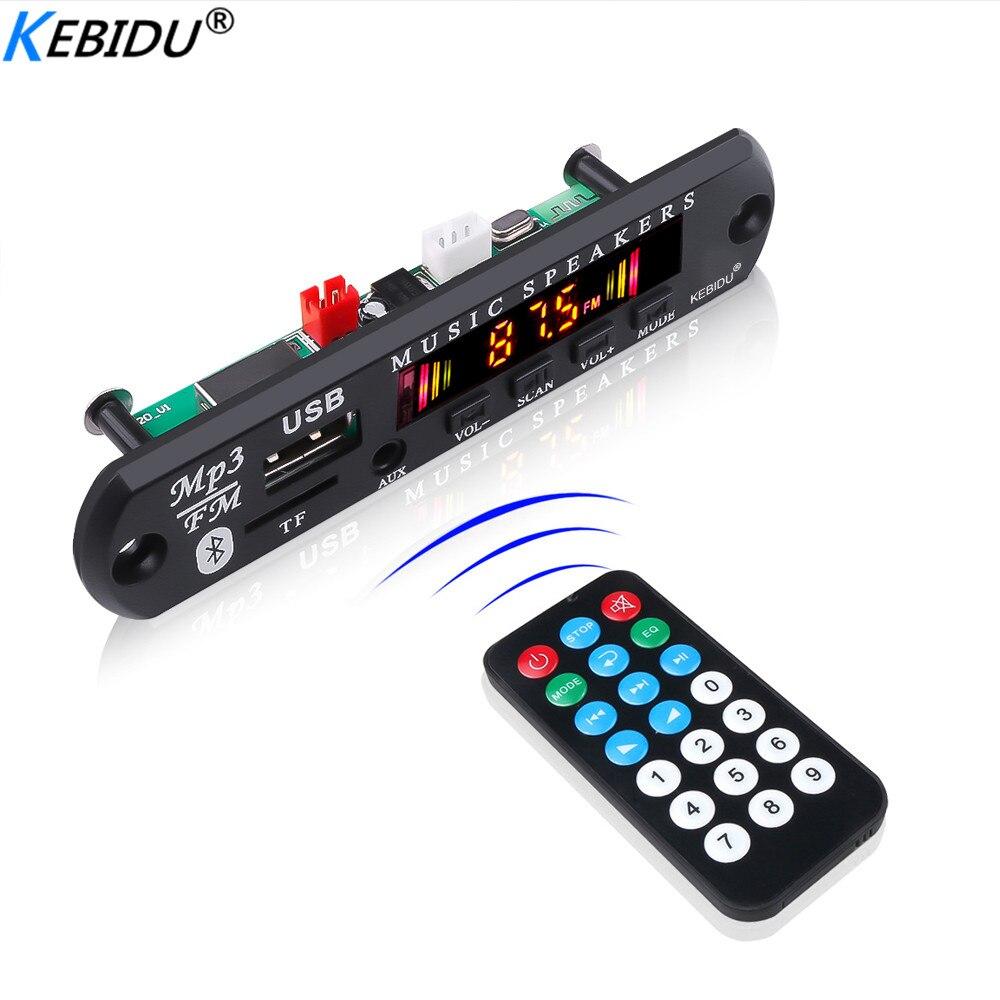 Hot Sale Wireless Bluetooth 5.0 DC 5V 12V MP3 WMA Decoder Board Audio Module USB FM TF Radio AUX Input For Car