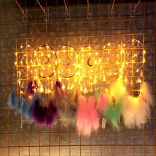 Dream Catcher Light Moonlight Window Led Catch Decoration with Lights Christmas Dreamcatcher Ornaments Birthday Gift Home Hotel