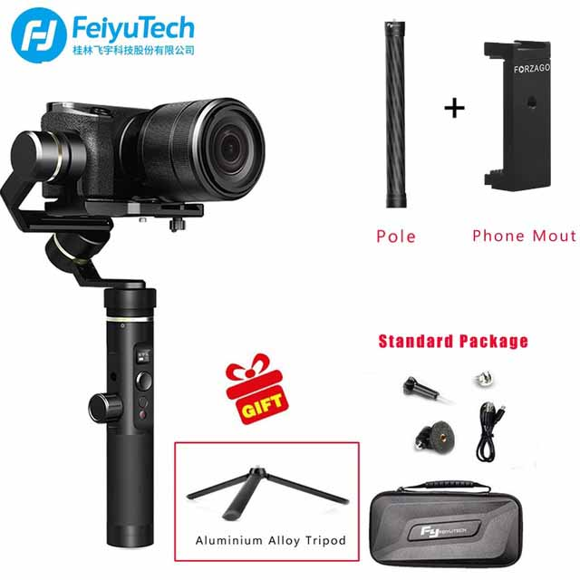 Feiyu tech G6 Plus 3 Axis Brushless Gimbal Stabilizer for Micro single Canon Sony Action Camera