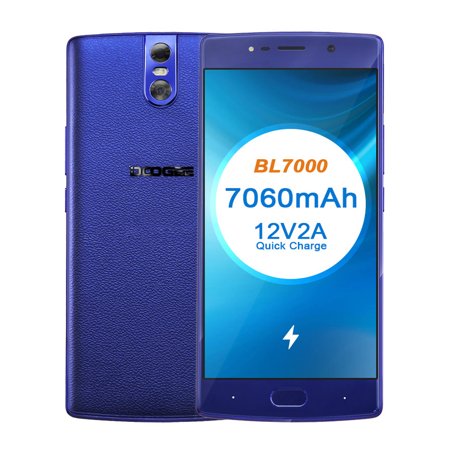 DOOGEE BL7000 7060mAh 12V2A Quick Charge 5.5 ''FHD MTK6750T Octa Core 4GB RAM 64GB ROM Smartphone dual 13.0MP Camera Android 7.0 - 2