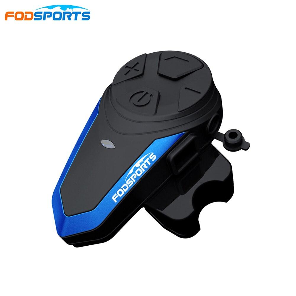1 Pc Fodsports BT-S3 Motorcycle Helmet Intercoms 1000m Motor Helmet Headset 2 Riders Helmet Intercom FM Radio Headphones Helmet