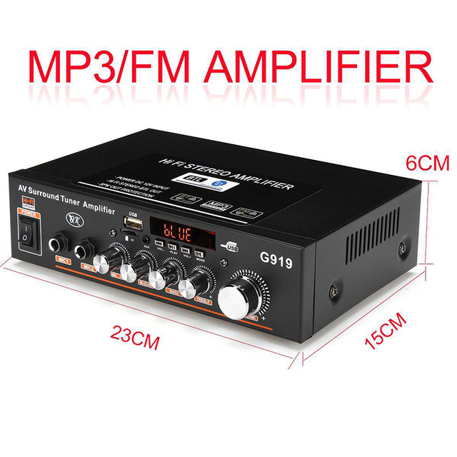 NEW G919 Mini Amplificador  Power Amplifier Car 12V 220V 5
