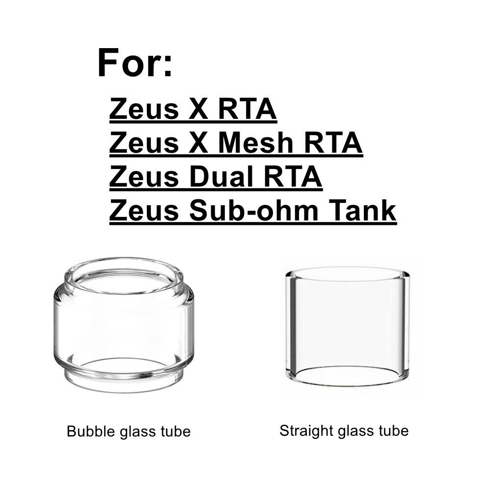 HXJVAPE Original Pyrex Bubble Bulb Glass Tube Tank For Geekvape Zeus X/Zeus Dual/Zeus X Mesh Coil RTA Atomizer tANK