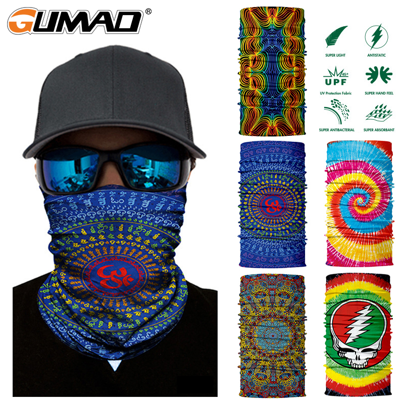 3D Seamless Magic Neck Gaiter Face Mask Shield Fishing Cycling Hiking Bike Snowboard Bandana Headband Headscarf Scarf Men Women
