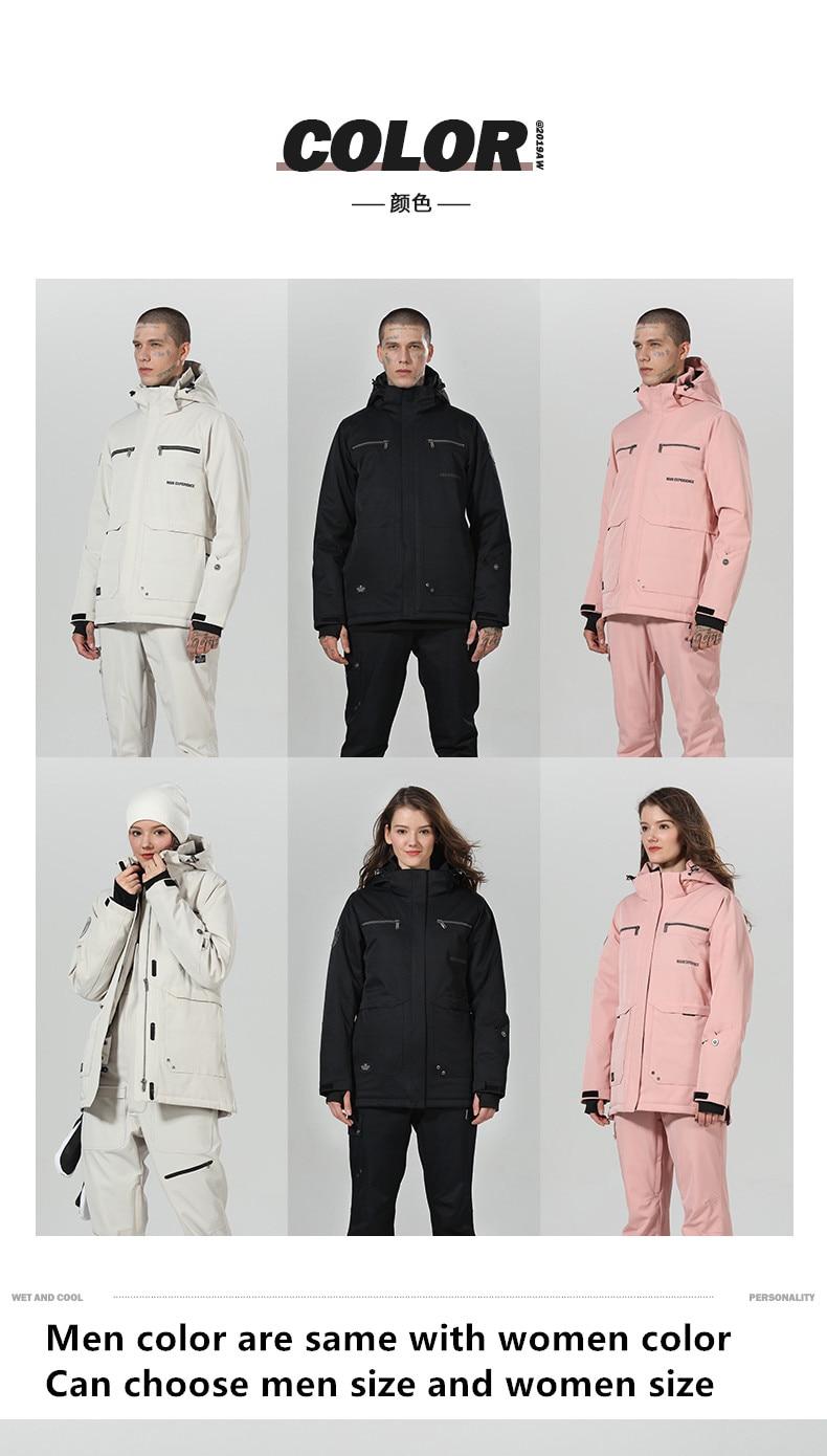 2019 terno de esqui das mulheres terno