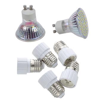 15 sztuk akcesoria 10 sztuk 5W GU10 3528 SMD 60 LED czysta biel 6500K światło punktowe żarówka lampa 220V i 5 sztuk E27 do GU10 lampa Lig tanie i dobre opinie NONE CN (pochodzenie)