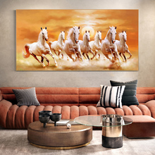 Running Horses Animals Canvas Paintings on the Wall Art Posters And Prints Sunset Landscape Canvas Art Pictures Wall Decor sunset horses pattern unframed decorative canvas paintings