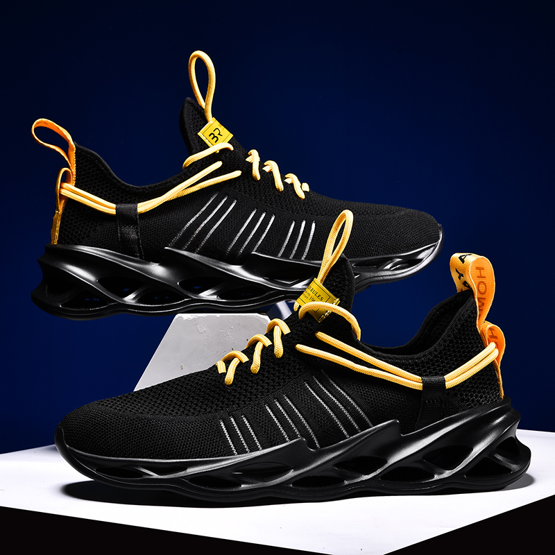 Image 2 - Man Blade Sneakers Lightweight Free Running For Men Jogging Walking Sport Shoes High quality Lace up Athletic Shoes ComfortableRunning Shoes   -