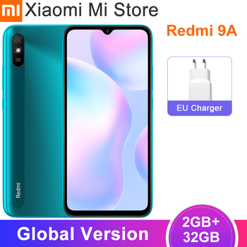 "2020 New Global Version Xiaomi Redmi 9A Mobile Phone 2GB RAM 32GB ROM MTK Helio G25 Octa Core 6.53"" 5000mAh 13MP Camera Cellphon"