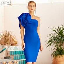 Adyce 2021 Новое летнее Бандажное платье на одно плечо с оборками