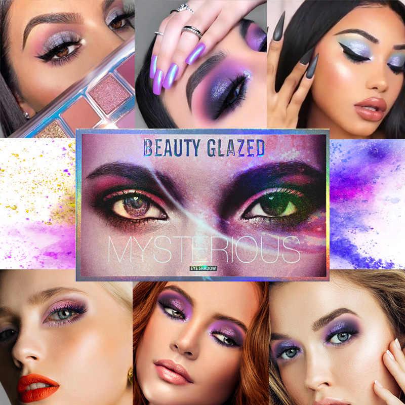 Kecantikan Mengkilap 18 Warna Glitter Matte Eyeshadow Palet Makeup Glitter Pigmen Smoky Sorot Eyeshadow Palet Kosmetik TSLM2