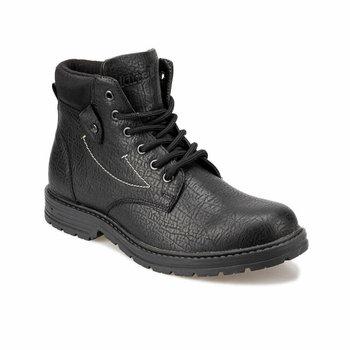 FLO SARU 9PR czarne męskie buty KINETIX tanie i dobre opinie podstawowe Sztuczna skóra ANKLE