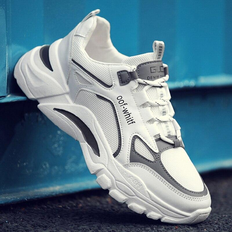 Спортивная обувь, трендовые повседневные холщовые дышащие мужские кроссовки с защитой от пота, дезодорирующие корейские студенческие крос...
