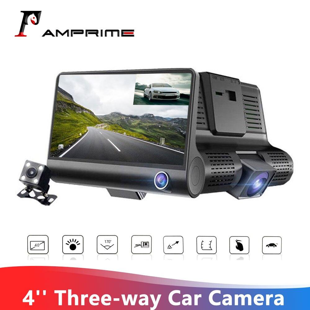 AMPrime 4 ''Автомобильный видеорегистратор с тремя объективами, Автомобильный видеорегистратор с углом обзора 170 градусов, автомобильная камер...