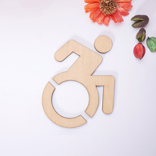 1 pieces 3D Acrylic Wheelchair Accessible Disabled Toilet Mirrored Door Sticker / Wall Sign 3pcs lot toilet rest room washroom high quality acrylic 3d door plates sign plate indicator creative design 33x12cm customized