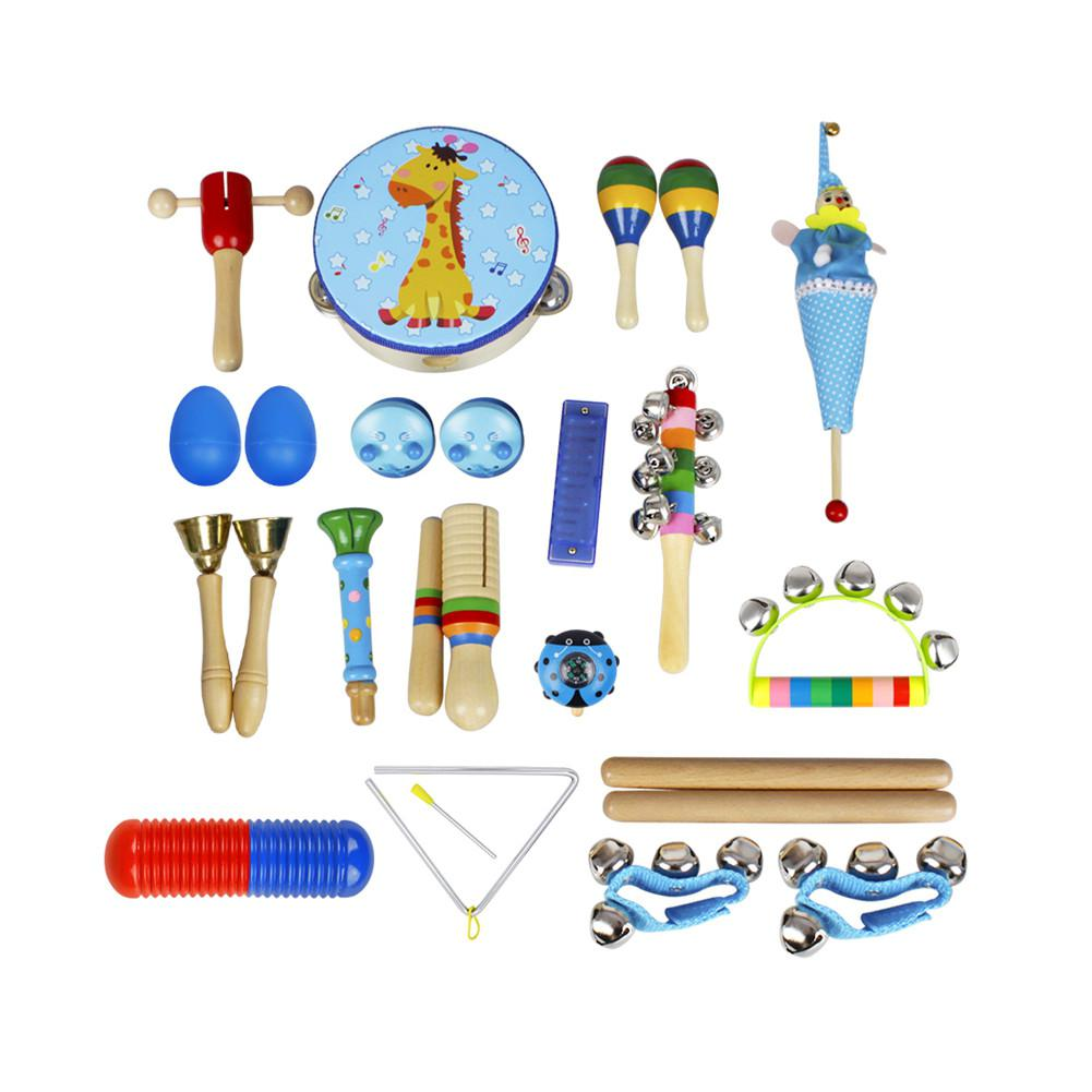 22-Piece Set Musical Instruments Early Education Enlightenment Instrument Children Hands Sensing Practice Orff Musical Maraca