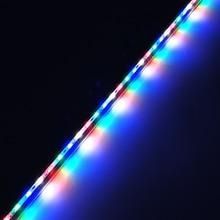 2 sztuk DC12V 0.5m 5730 IP68 wodoodporna oświetlenie do uprawy listwa Led sztywny pasek czerwony niebieski 5:1,4:2 do akwarium zielony dom roślina hydroponiczna