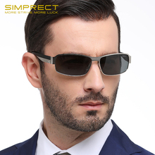 SIMPRECT Polarized Sunglasses Men 2020 Square Photochromic Sunglasses Retro Vintage UV400 Anti-glare Sun Glasses For Men Oculos