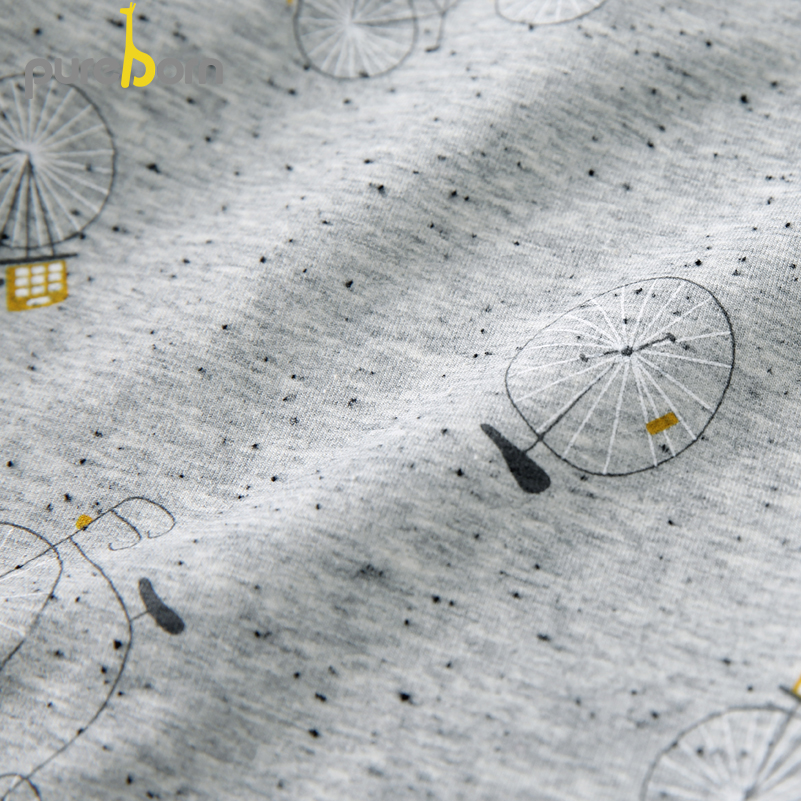 Pureborn Toddler Top T-shirt Collar Long Sleeve Cartoon T-shirt Newborn Baby Boys Girls Clothes Spring Autumn 5