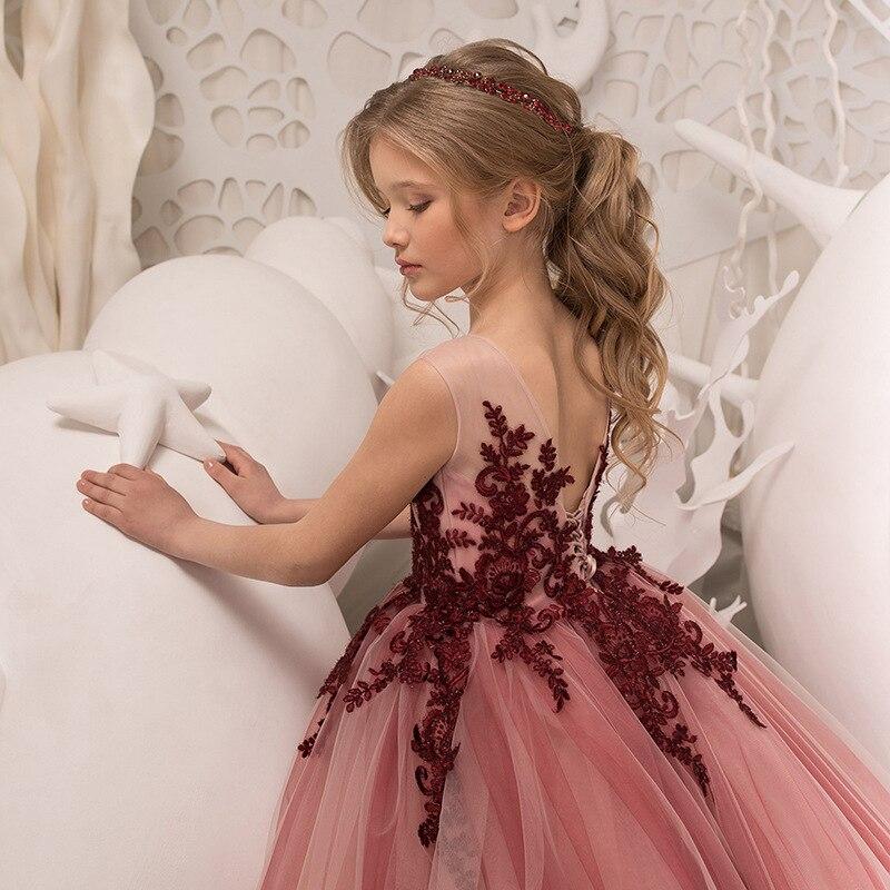 2019 Summer New Style Nobility Girls' Princess Skirt Girls Evening Dress GIRL'S Western Style Dress Piano Costume