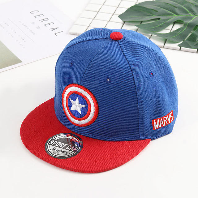 Cartoon Captain America Superman BATMAN Children Baseball Cap Kids Hat Boys Girls  Hip Hop cap kids snapback cap dad hat